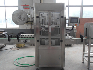 Bottle shrink sleeve labeling machine