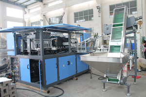 Automatic 6 cavity bottle blow molding machine